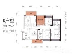 D户型1栋02-28层03房:建筑面积119.46m2〔南北通透〕