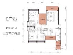 C户型3栋02-30层01房:建筑面积178.12m2〔临湖山景户