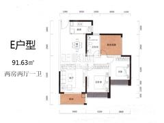 1栋02-29层01房:建筑面积93.25m2
