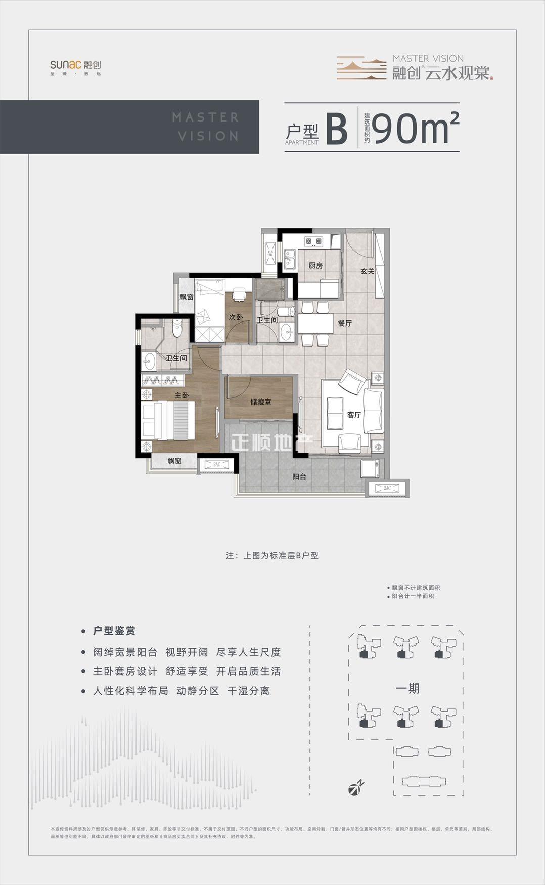 融创云水观棠 - 户型图