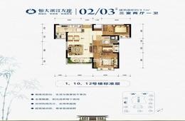 恒大滨江左岸 - 户型图