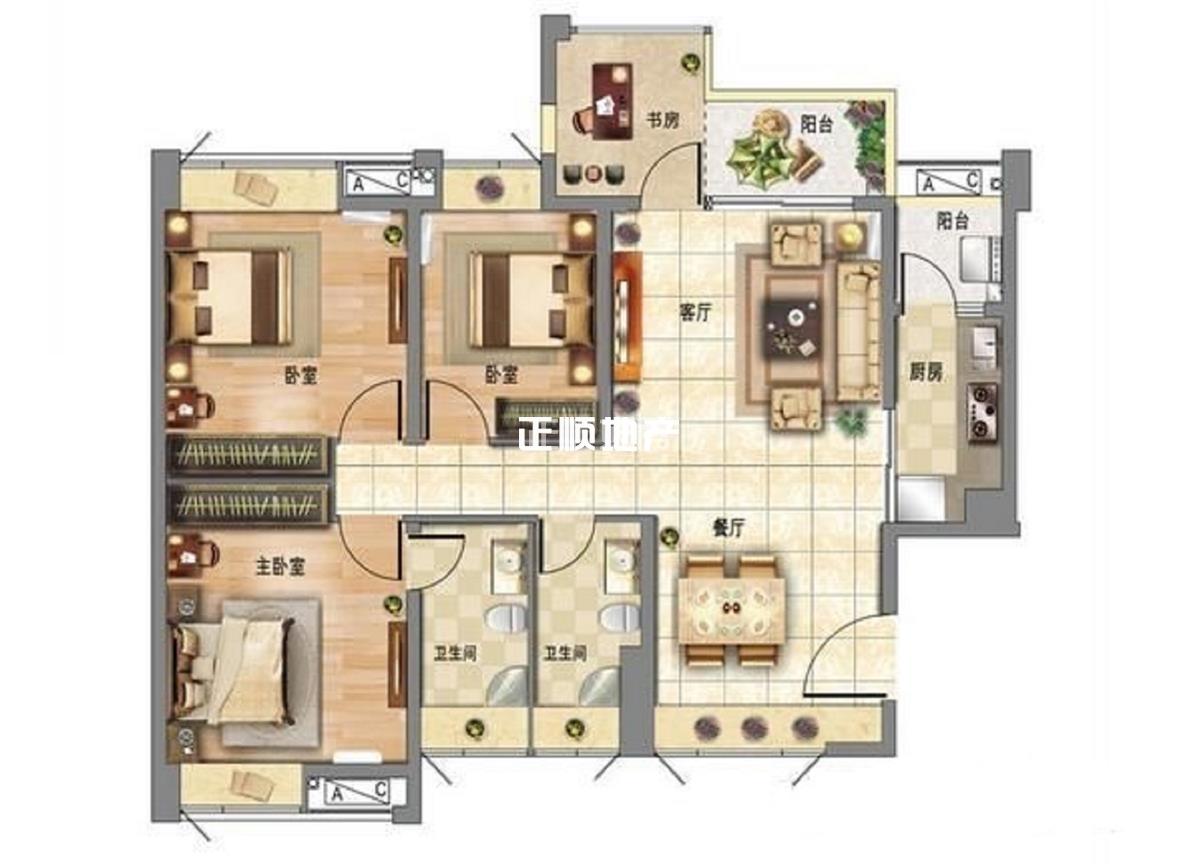 时代倾城  楼间距宽景观非常好 3房业主稳定出售