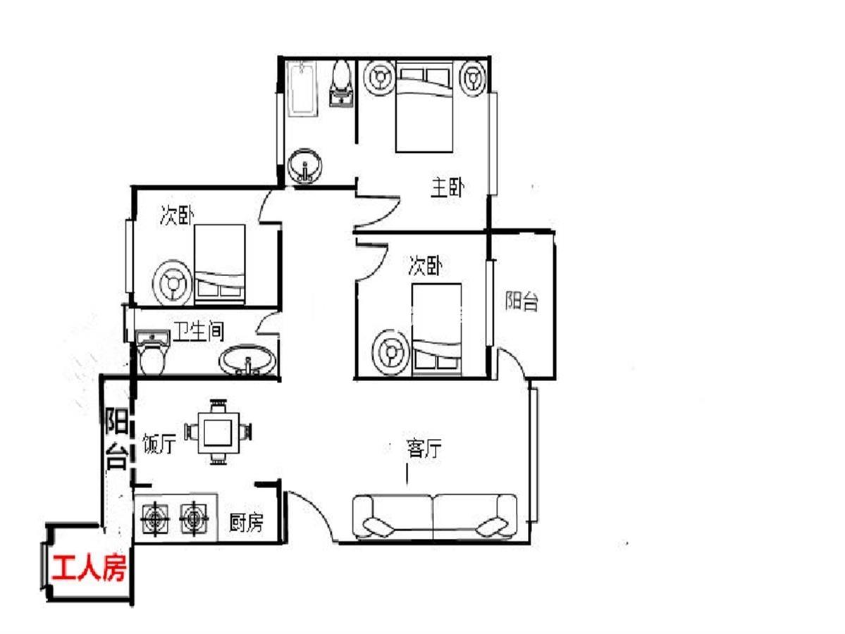 南泰明湾花园 小区楼王单位 4房2厅2卫 南北通透  双阳台  看房方便