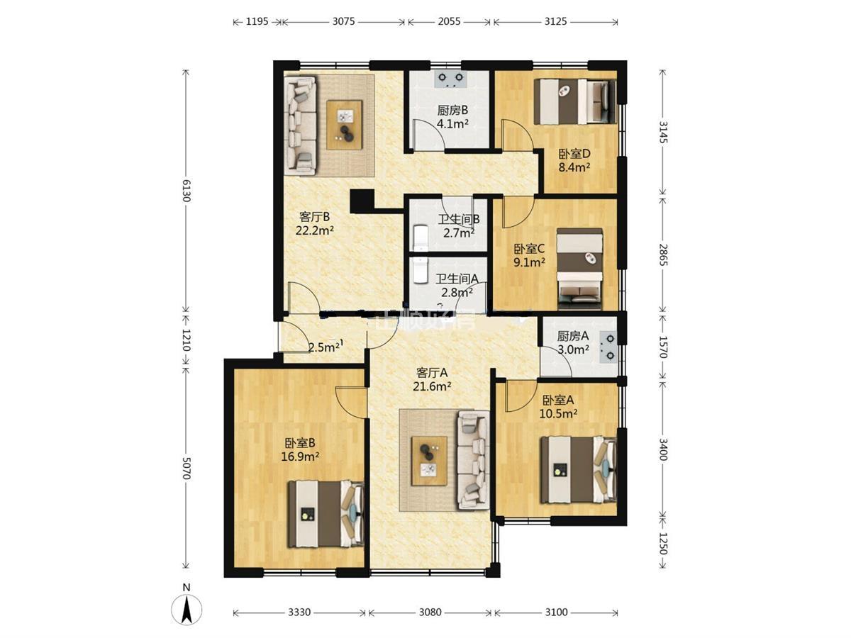 人民东路住宅.实用4房2厅.格局方正.通风采光好.拎包入住.诚心出售