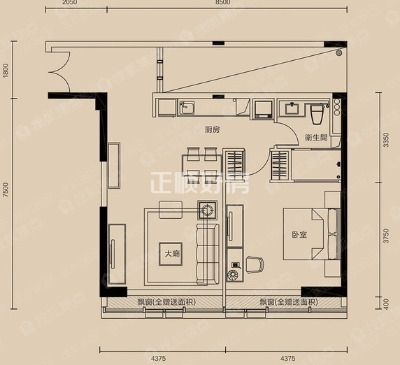 横琴金融岛70年产权精装住宅,看海景,十字门景观